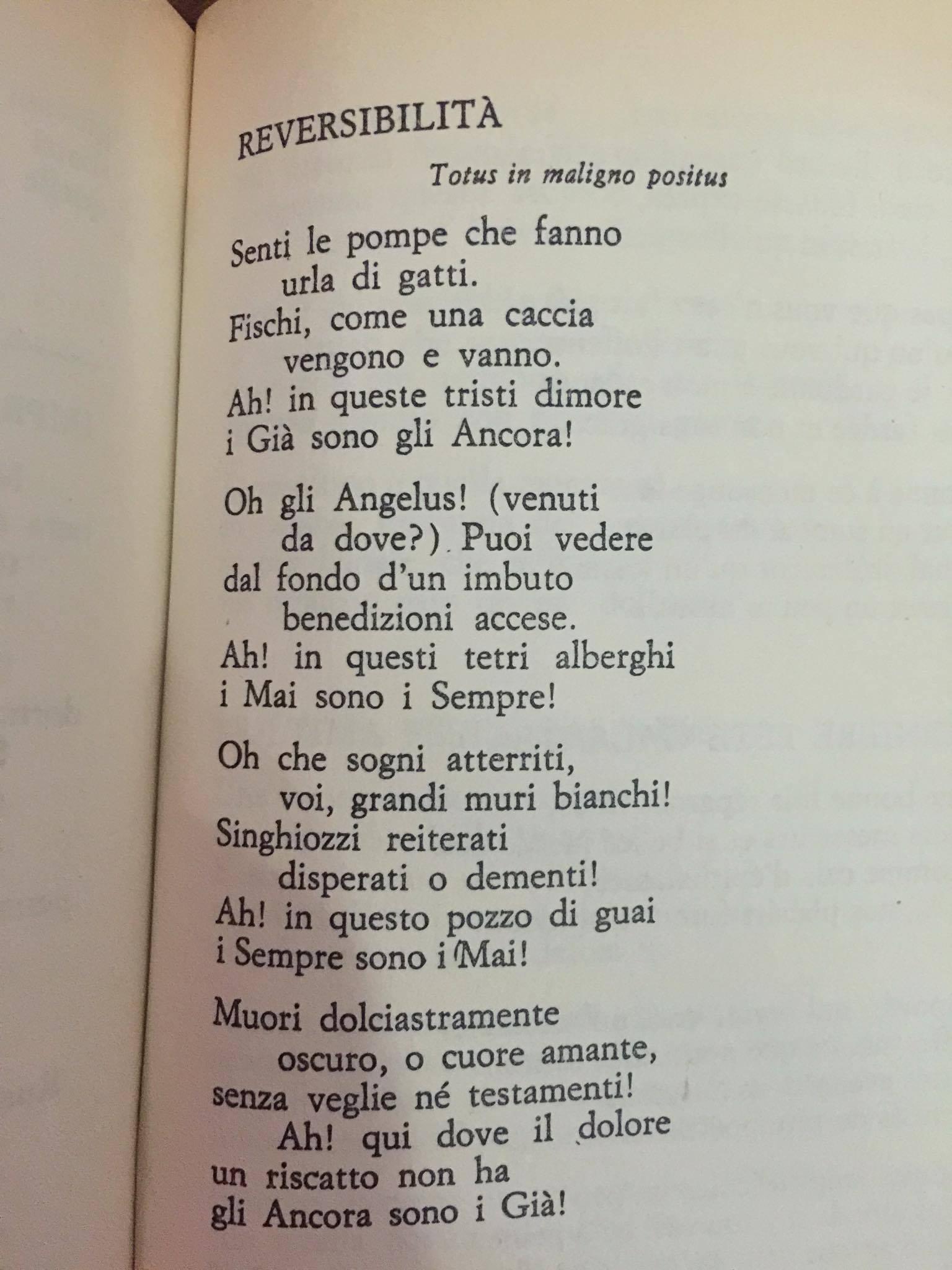 La poesia del giorno reversibilit paul verlaine for Sito del giorno